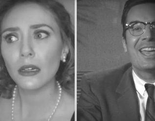 Watch Jimmy Fallon and Elizabeth Olsen's FallonVision Skit